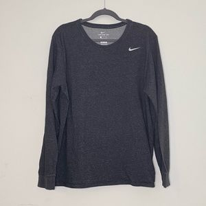 Nike Dri-Fit Grey Men's Long Sleeve Shirt